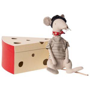 16 9970 Rat Cool Gris Clair dans sa boîte en carton fromage