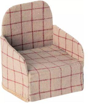 Chaise miniature Maileg pour souris pour maison de poupée