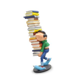 gaston pile de livres