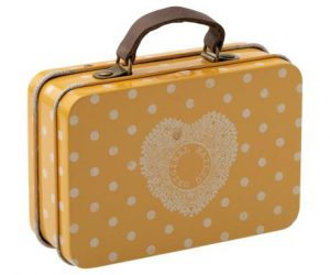 valise metal point jaune 200203-00 maileg