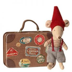 CHRISTMAS MOOSE IN SUITCASE MAILEG
