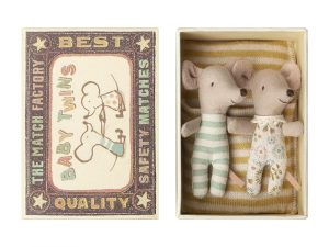 BABY TWIN MICE IN BOX MAILEG