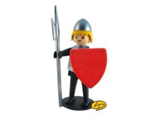 Le chevalier noir, Playmobil Figurine Leblon Delienne résine.